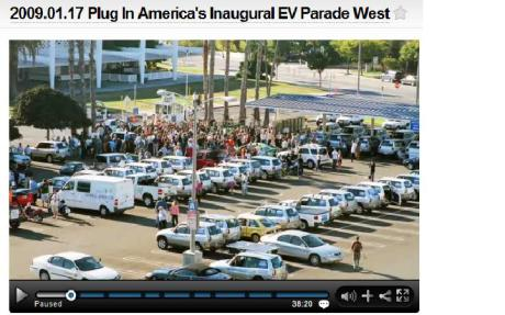 Plug In America's Inaugural Parade West - with 70 electric cars