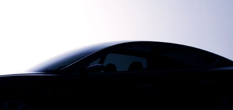 Tesla Model S teaser picture