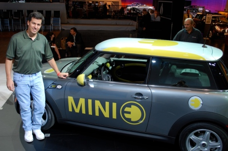 Stefano with the MINI E